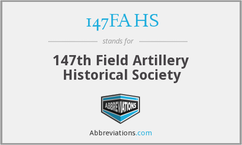 147FAHS - 147th Field Artillery Historical Society