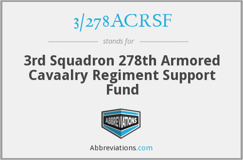 What does 3/278ACRSF stand for?