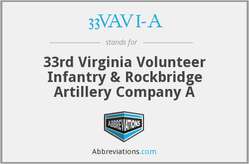 33VAVI-A - 33rd Virginia Volunteer Infantry & Rockbridge Artillery Company A