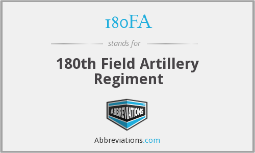 180FA - 180th Field Artillery Regiment