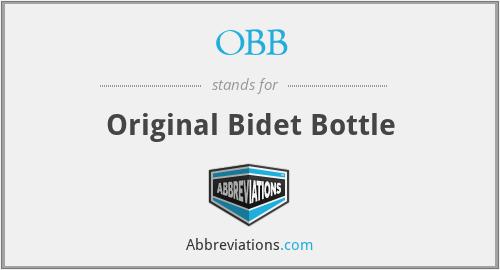OBB - Original Bidet Bottle