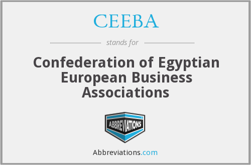 CEEBA - Confederation of Egyptian European Business Associations