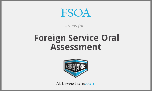 FSOA - Foreign Service Oral Assessment