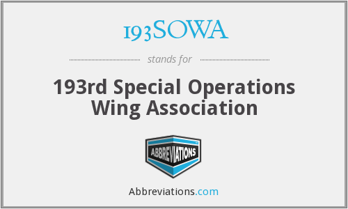 193SOWA - 193rd Special Operations Wing Association