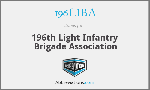 196LIBA - 196th Light Infantry Brigade Association