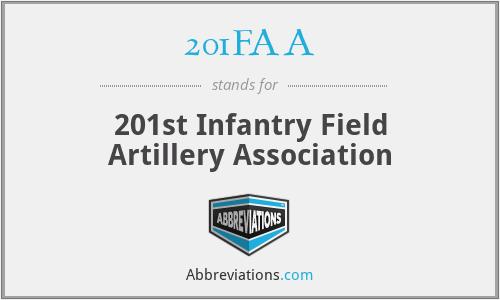 201FAA - 201st Infantry Field Artillery Association