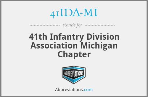 41IDA-MI - 41th Infantry Division Association Michigan Chapter