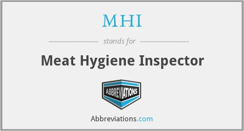 MHI - Meat Hygiene Inspector