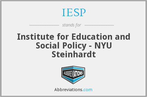 IESP - Institute for Education and Social Policy - NYU Steinhardt