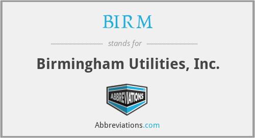 BIRM - Birmingham Utilities, Inc.
