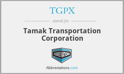 TGPX - Tamak Transportation Corporation