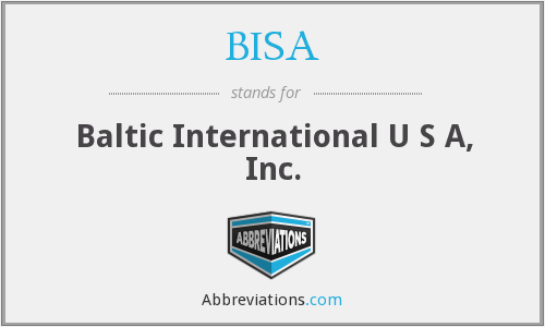 What does BISA stand for?