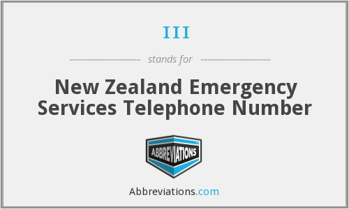 111 - New Zealand Emergency Services Telephone Number