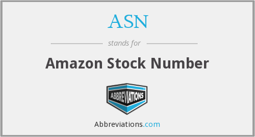 ASN - Amazon Stock Number