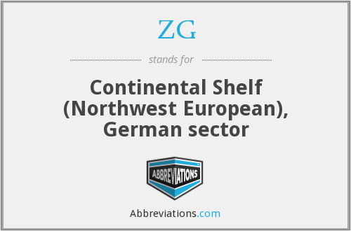 ZG - Continental Shelf (Northwest European), German sector