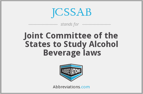 JCSSAB - Joint Committee of the States to Study Alcohol Beverage laws