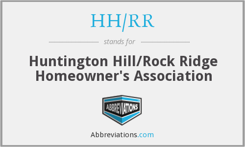 What does HH/RR stand for?