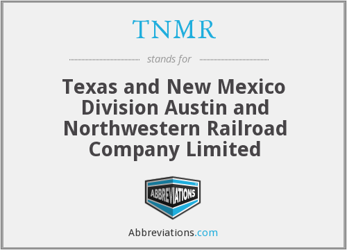 What does TNMR stand for?