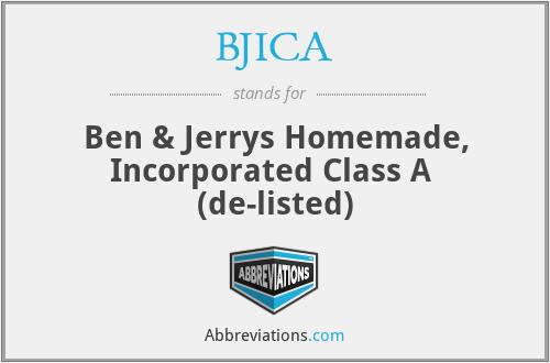 BJICA - Ben & Jerrys Homemade, Inc. Class A