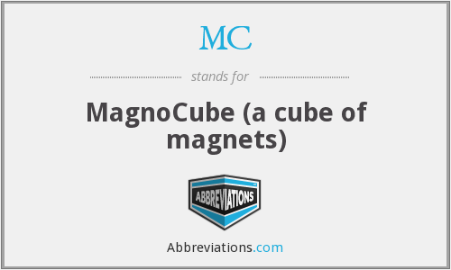 MC - MagnoCube (a cube of magnets)