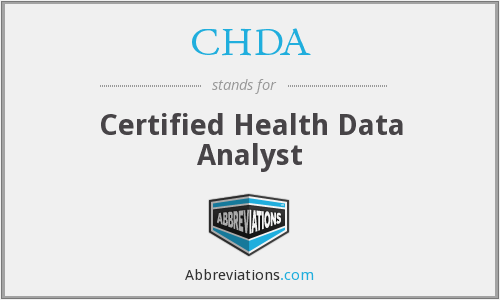 CHDA - Certified Health Data Analyst