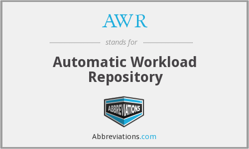 AWR - Automatic Workload Repository