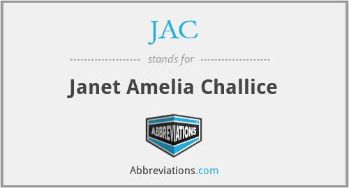 JAC - Janet Amelia Challice