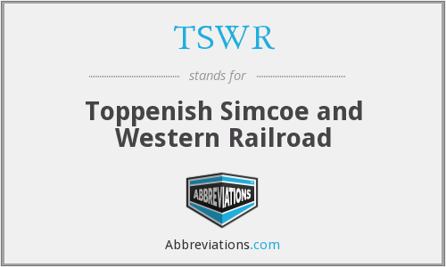 What does TSWR stand for?
