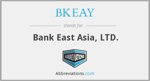 What does BKEAY stand for?
