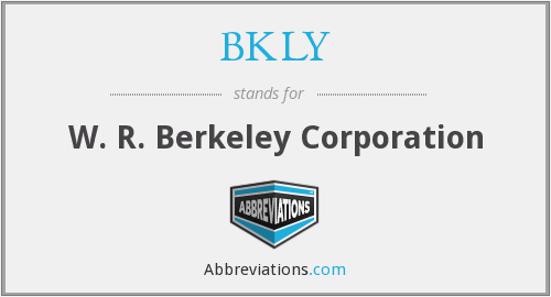 What does BKLY stand for?