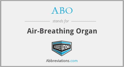 ABO - Air-Breathing Organ