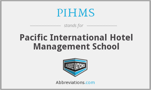What does PIHMS stand for?