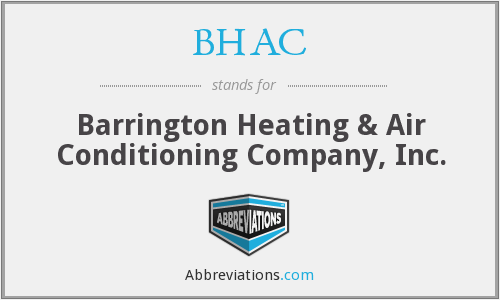 BHAC - Barrington Heating & Air Conditioning Company, Inc.