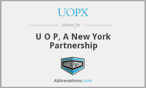 UOPX - U O P, A New York Partnership