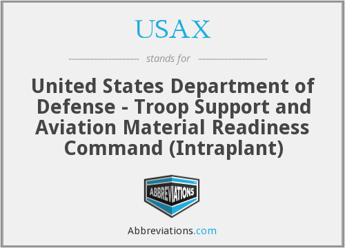 What does USAX stand for?