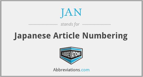 JAN - Japanese Article Numbering