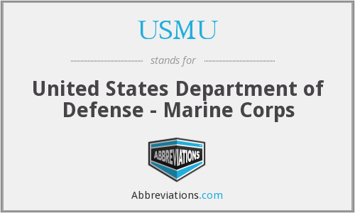 What does USMU stand for?