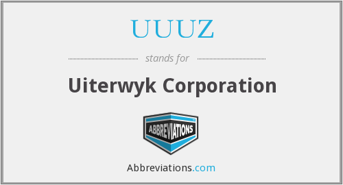UUUZ - Uiterwyk Corporation