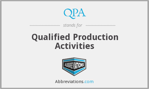QPA - Qualified Production Activities