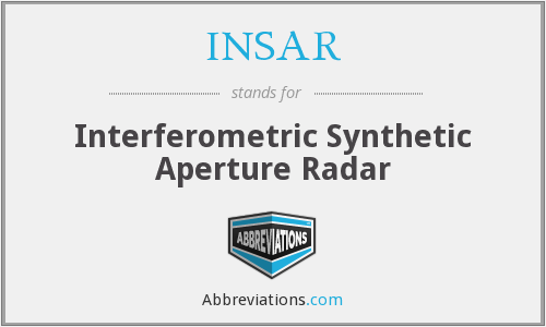 What does INSAR stand for?