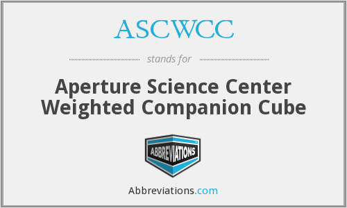 ASCWCC - Aperture Science Center Weighted Companion Cube