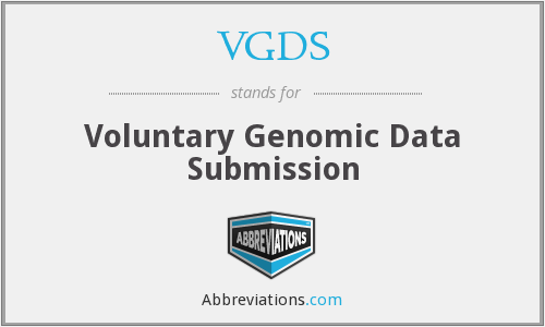 VGDS - Voluntary Genomic Data Submission