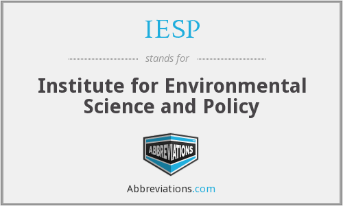 IESP - Institute for Environmental Science and Policy