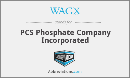 WAGX - PCS Phosphate Company Incorporated
