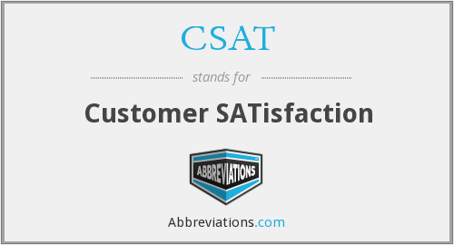 CSAT - Customer SATisfaction