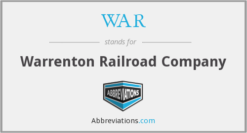 WAR - Warrenton Railroad Company