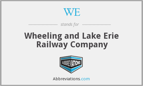WE - Wheeling and Lake Erie Railway Company