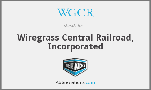 What does WGCR stand for?