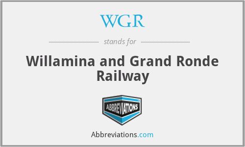 WGR - Willamina and Grand Ronde Railway