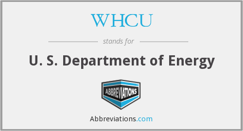 What does WHCU stand for?
